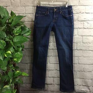GAP 1969 dark wash blue Real Straight jeans